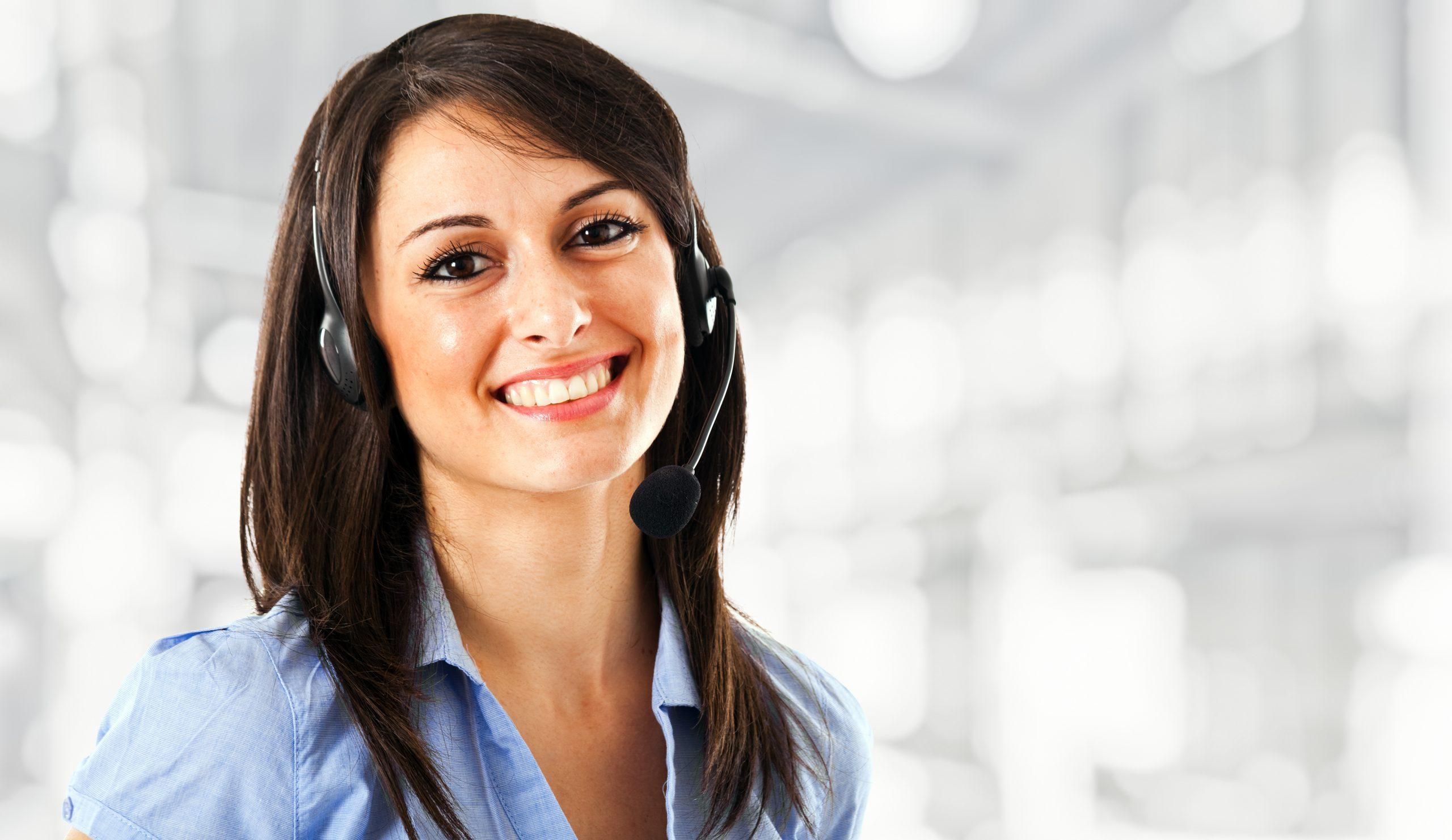 Contact medewerker aan het werk